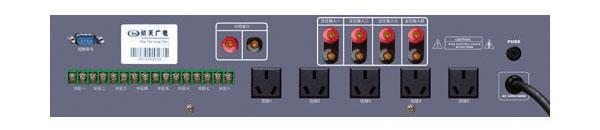 數字自動廣播系統背面接口圖