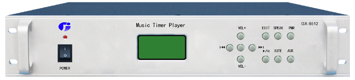 MP3自动广播主机前面板
